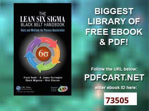 Six Sigma Black Belt Handbook Pdf