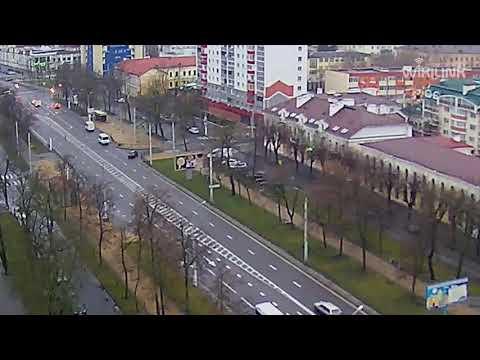 Машерова - Карла Маркса. ДТП. 01.02.2020. Брест