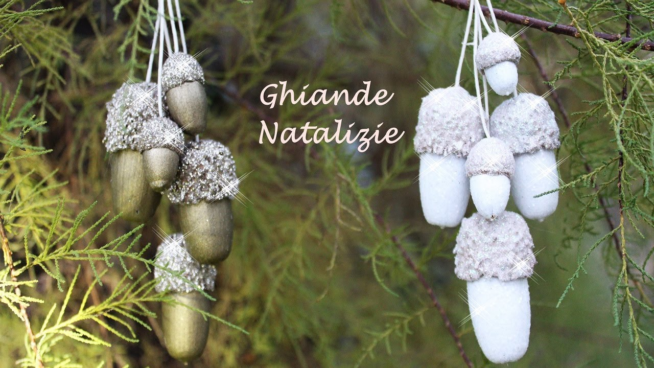 Decorazioni Natalizie Youtube.Decorazioni Natalizie Fai Da Te Ghiande Decorate