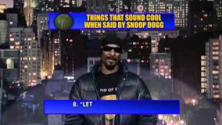 David Letterman   Top 10 things that sound cool  when said by Snoop Dogg!