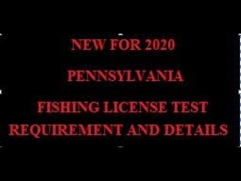 PA FISHING LICENSE TEST