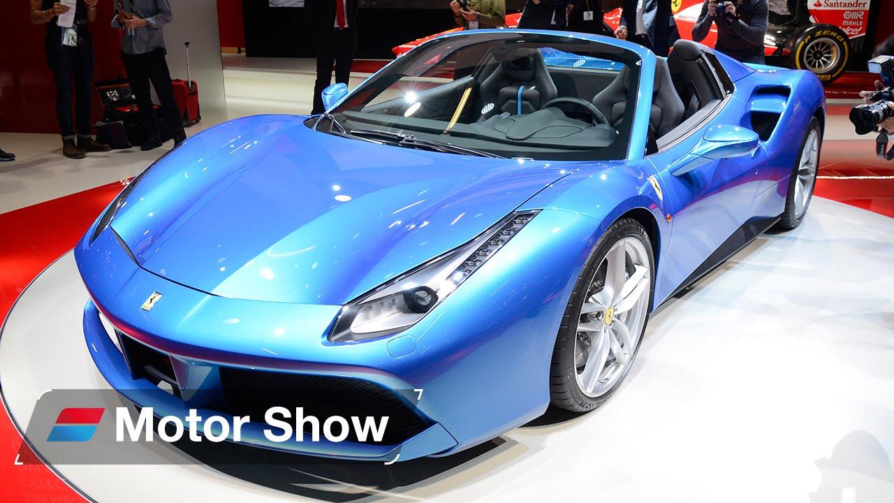 ferrari 488 spider vs lamborghini huracan spyder frankfurt motor show 2015 - Ferrari 488 Vs Lamborghini Huracan