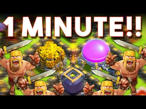 Clash of Clans  - ONLY ONE MINUTE -  CHALLENGE WITH NICKATNYTE