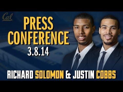 Cal Men's Basketball: Richard Solomon & Justin Cobbs Colorado Post-Game (3/8/14)