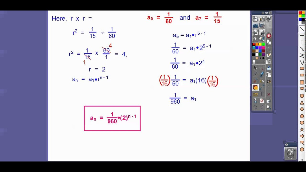 More Constructing Geometric Sequences - Module 14.2 (Part ...