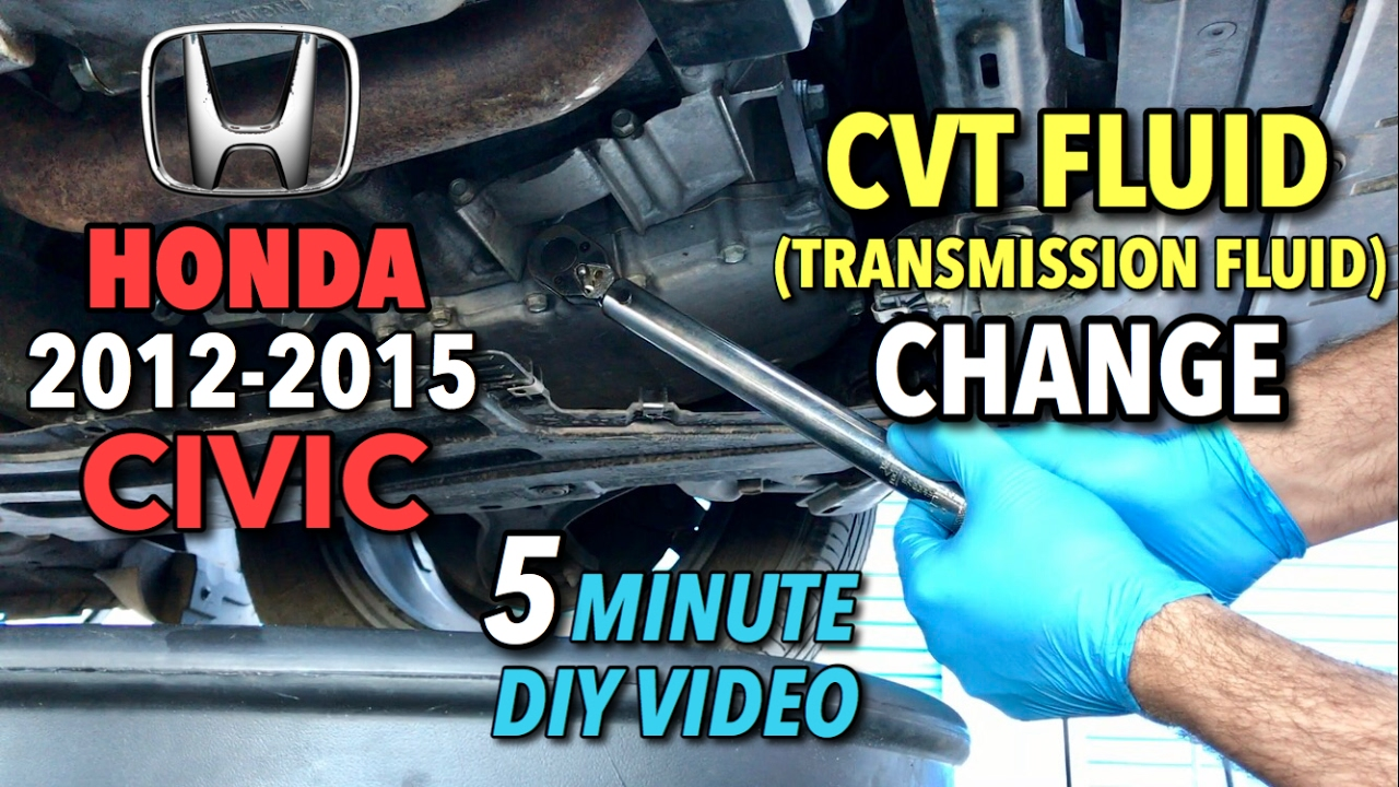 Honda Civic CVT Fluid Change 2014-2015 - 5 Minute DIY Video