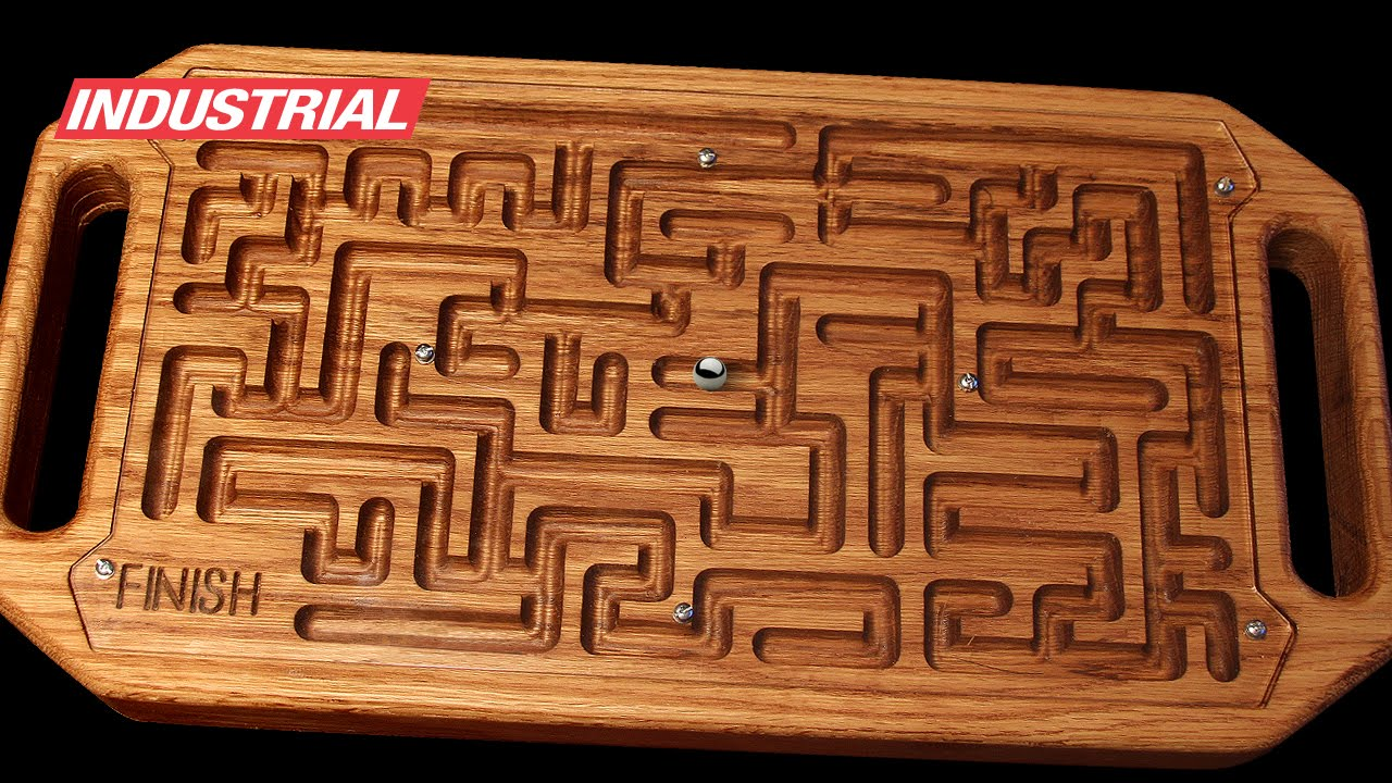 Cnc Project Wooden Game Maze Puzzle With Steel Ball