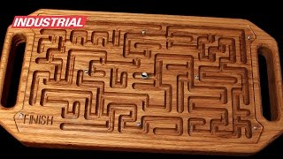 CNC Project: Wooden Game Maze Puzzle with Steel Ball Bearing w/Amana Tool CNC Router Bits