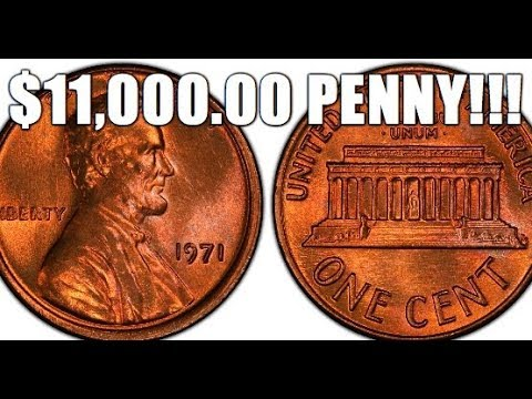 $11,000 00 1971 Penny! How To Spot This Rare & Valuable Lincoln Cent!