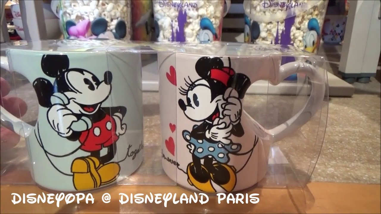 And Merchandise Minnie Sets Disneyland Mickey Cup Paris OZuPTkiX