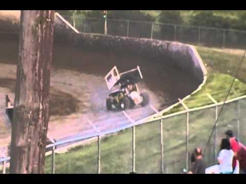 34 Raceway 305 Sprints Heat Race 7/4/15