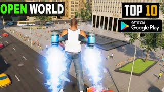 TOP 10 OPEN WORLD GAMES for Android in 2020 (OFFLINE/ONLINE) HIGH GRAPHICS