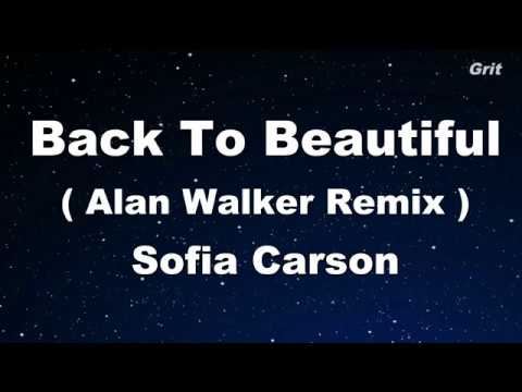 Back to Beautiful - Sofia Carson Karaoke 【With Guide Melody】 Instrumental
