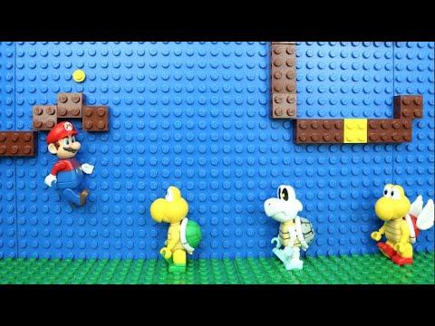 マリオのステージをレゴで作ってコマ撮りしてみた!〜マリオがノコノコからルイージを救出〜