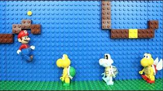 マリオのステージをレゴで作ってコマ撮りしてみた!〜マリオがノコノコからルイージを救出〜 thumbnail