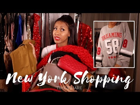 NEW YORK SHOPPING IN TIME SQUARE!