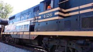 Indiana State Fair Train Leaving Fishers Station EMD GP7 F7