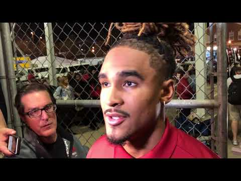 Jalen Hurts after Alabama lost 2017 Iron Bowl to Auburn
