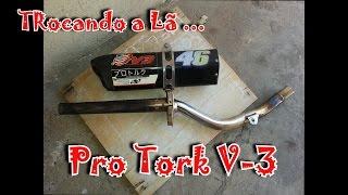 trocando a l pro tork v3 xre 300cc escape