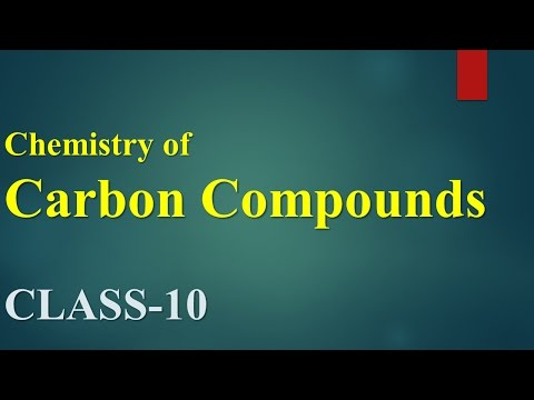 Chemistry of Carbon compounds(Class-X)