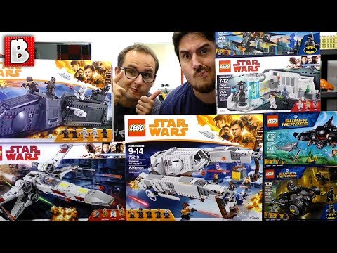 NEW Star Wars, Batman, Aquaman Sets! SDCC 2018 EarlyBird Build Party!!
