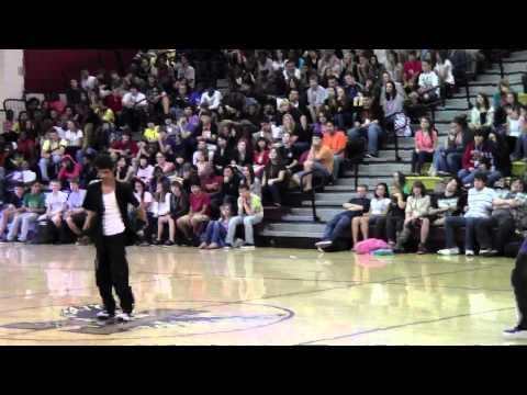 Rashad Sings/ Jordan and Rashad dancing at Ashley High School Pep Rally