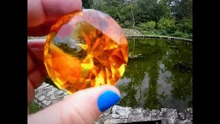 A REAL AMBER GEMSTONE IN A WATERFALL!! MAGICAL.. ON FUN HOUSE TV