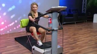 newgen medicals Vibrations-Trainer mit Pulsmesser und Lautsprechern