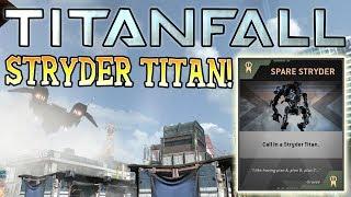 SECRET STRYDER TITAN! - Epic Burn Cards! - Titanfall PC Beta Gameplay