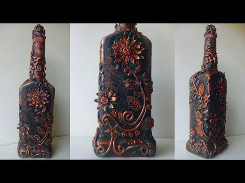 Bottle Decoration Ideas / DIY Antique Bottle Art