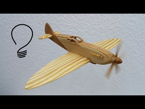 How To Make A Spitfire Fighter Aircraft Out Of Wood Youtube