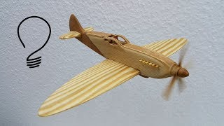 How to Make a Spitfire Fighter Aircraft out of Wood