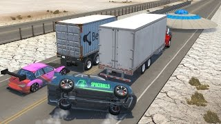 Beamng drive - Extreme Rear-End Impact car Crashes