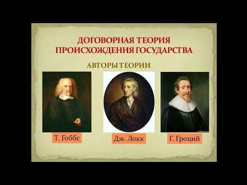 Теории происхождения государства и права