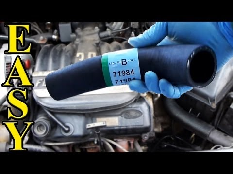 how to replace a radiator hose  upper and lower  youtube 2001 honda odyssey engine diagram 2001 honda civic ex engine diagram