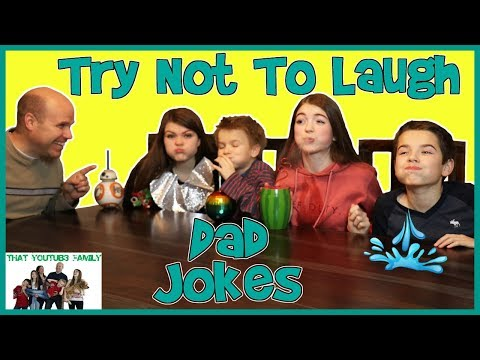 Try Not To Laugh With Dad Jokes! / That YouTub3 Family: The kids try to not laugh with water in their mouths while dad tells his corny jokes!  Eh Bee Family Try Not To Laugh Challenge - Dad Jokes: http://bit.ly/2D8QELi   Please subscribe to be a part of That YouTube Family! http://www.youtube.com/channel/UCbZgDzTkBQMkPWYBFESJ3sQ?sub_confirmation=1    We are That YouTub3 Family!