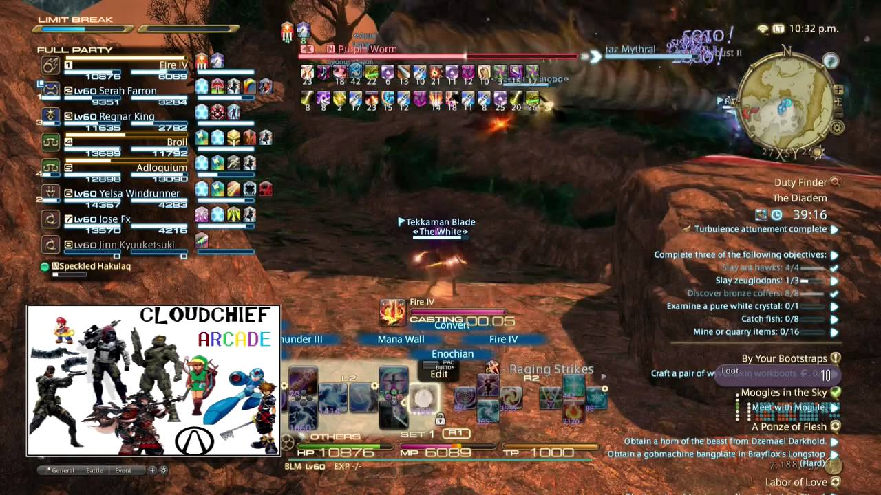 FFXIV - Diadem Introduction and Review by cloudchief arcade