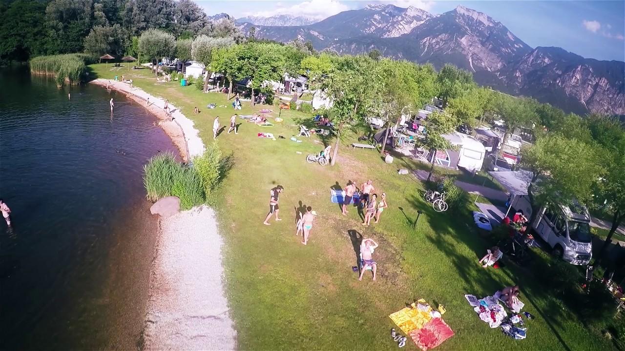 Spiaggia/beach/Strand Camping Village Lago Levico **** :) - YouTube