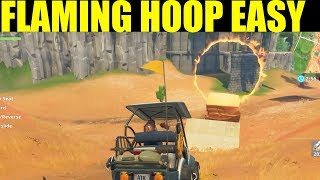 Fortnite All Flaming Hoop Locations Jump through Flaming Hoops Locations (Season 5 Week 4)