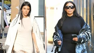 X17 EXCLUSIVE - Kim Kardashian Meets Kourtney For Lunch Amid Kanye Crisis