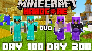 We Survived 200 Days In Hardcore Minecraft - Duo Minecraft Hardcore 100 Days