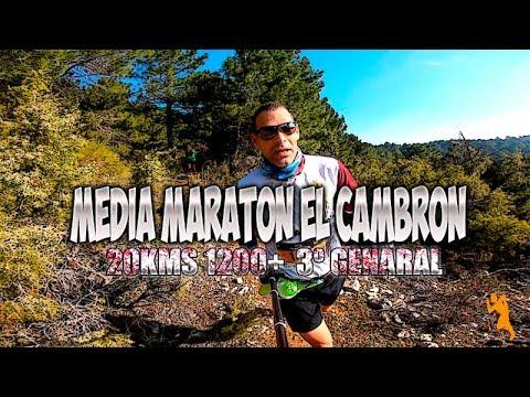 Media Maratón Trail El Cambrón   20km 1200+ 3º General y Senior