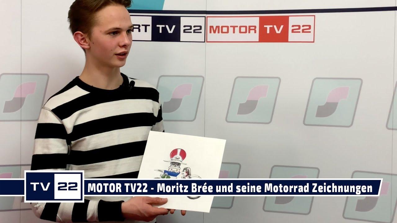 MOTOR TV22: Moritz Brée und seine außergewöhnlichen Motorrad Zeichnungen