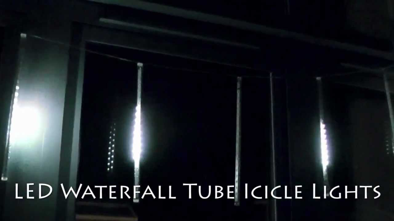 christmas waterfall tube icicle lights youtube - Waterfall Christmas Lights