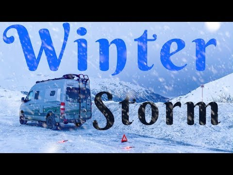 Alaska Winter Storm In a Van:  Are You Prepared for Winter Van Life?
