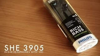 philips SHE3905 In Ear Headphones With Mic Unboxing Review Sound Test