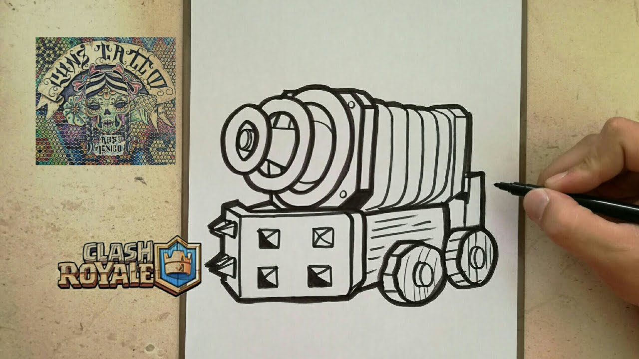 Como Dibujar A Chispitas Clash Royale