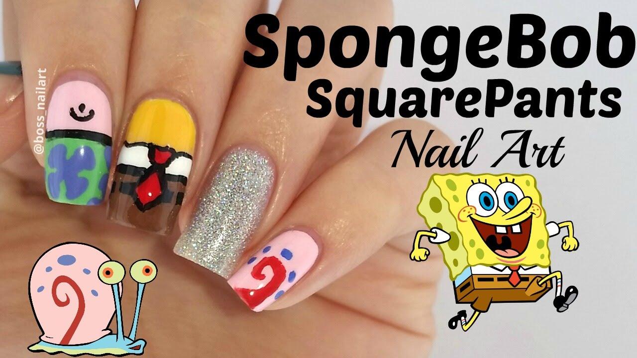 Spongebob Squarepants Nail Art Tutorial