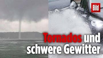 Tornados, Starkregen, Hagel und Gewitter: So wird das Wetter am Wochenende in Deutschland