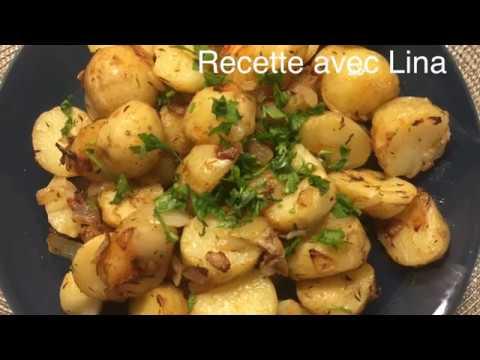 recette-des-pommes-de-terre-sautées-à-l'ail-et-le-thym-البطاطس-المنسمة-بالأعشاب